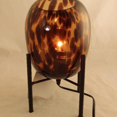 Tafellamp glas Ø17cmx29cmH