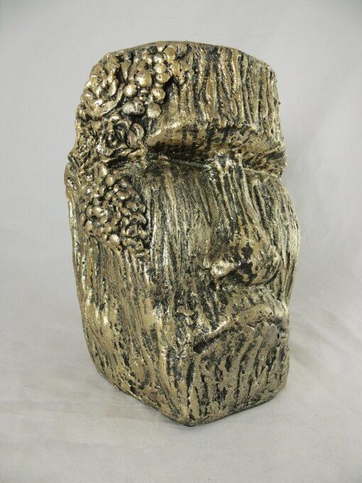 Bloempot Stoneface goud Ø20x29cmH
