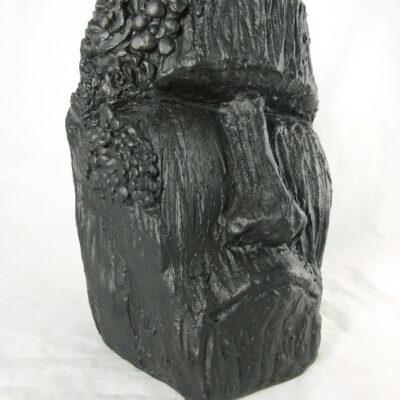 Bloempot Stoneface zwart Ø20x29cmH