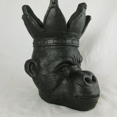 Bloempot aap zwart 23x25x29cmH