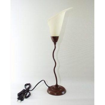 Lamp staand met lelieglas 51cmH