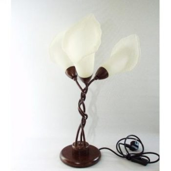 Lamp staand 3 lelieglazen 52cmH
