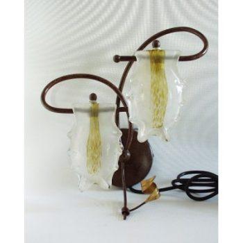 Wandlampje met 2 glaskapjes 38cm