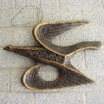 Wanddecoratie vogel klassiek 44cmLx30cmH