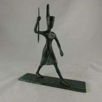 Egyptische krijger antique groen 23cmLx27cmH