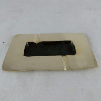 Asbak messing langwerpig mat 9x15cmL