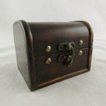 Kistje hout mini 11x9x9cmH