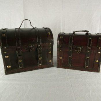 Kisten set 2-delig 30x23x26cmH-26x16x23cmH