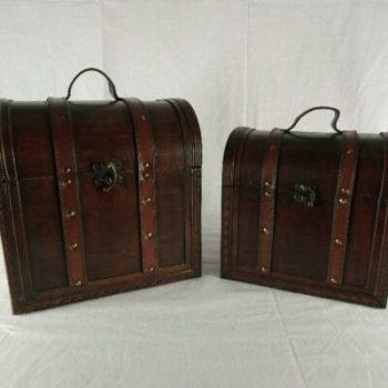 Kisten set 2-delig 30x24x30cmH 26x17x25cmH
