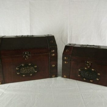 Kisten set 2-delig 36x26x25cmH 30x20x19cmH