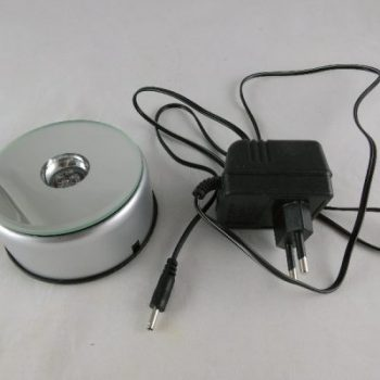 Display zilverkleur met ledverlichting Ø8cm