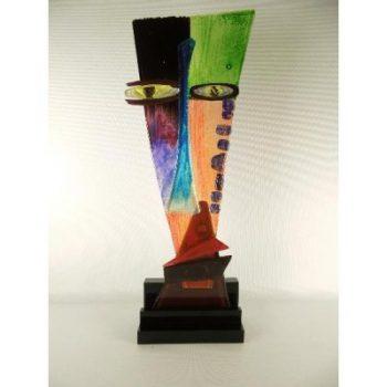 Face modern glas op acryl base 46cmH