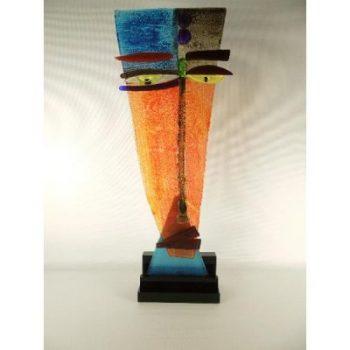 Face modern glas op acryl base 53cmH