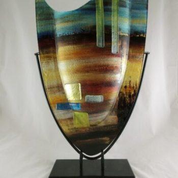"Vaas glas gekleurd ""Desert"" 37x59cmH"