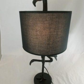 Tafellamp met vogel zwart 65cmH