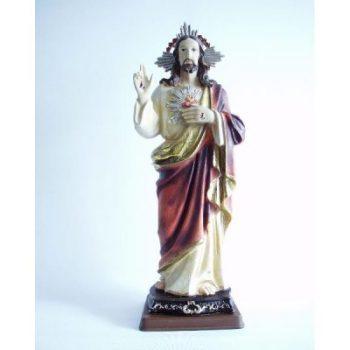 Jezus met brandend hart groot 41cmH