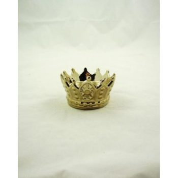 Theelichtkroon keramiek goudkleur 10x6.5cmH