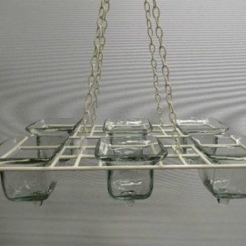 Kettingluchter room 6x glas helder 40x25cm