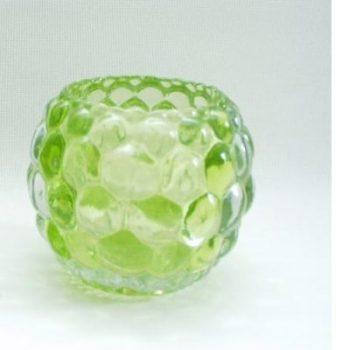 Sfeerlicht glas groen rond 10cmH
