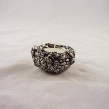 Sfeerlicht mandje zilverkleur Ø 7cm