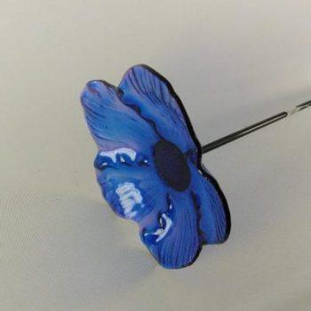 Tuinsteker bloemschaal blauw Ø20cm