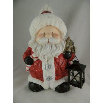 Kerstman met lantaarn 42cmH (2)