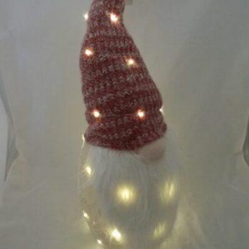 Gnome kunststof met led Ø24cm