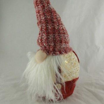 Gnome kunststof met ledverlichting 40cmH