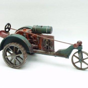Tractor groen/oranje 24cmL