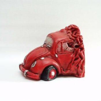 Deurstopper Auto rood 17cmLx13cmH
