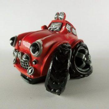 Spaarpot auto custom rood 16cmLx12cmH