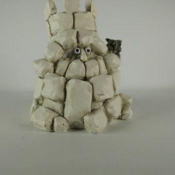 Toren met uil 12cmH