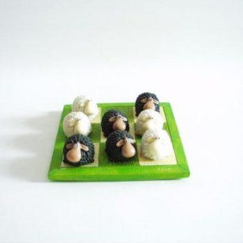 Boter/kaas/eieren schapen zwart/wit