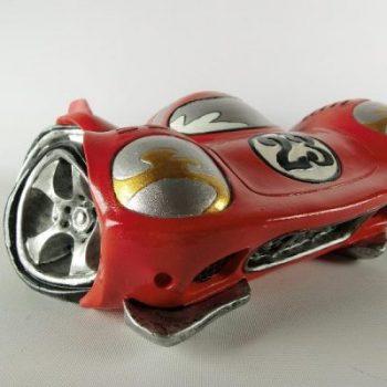 Spaarpot raceauto rood 16.5cmLx9cmH