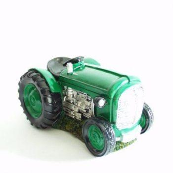 Spaarpot tractor groen 17.5x12x10cm