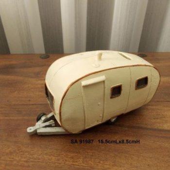 Spaarpot Caravan 15.5cmLx8.5cmH