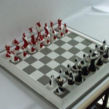 schaakspel modern 41x41cm